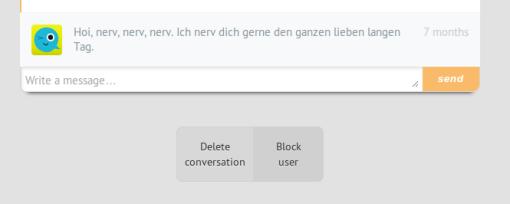 Blockieren in privaten Nachrichten
